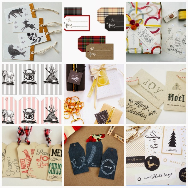 Favorite FREE Printable Christmas Gift Tags on Darling Cashmere