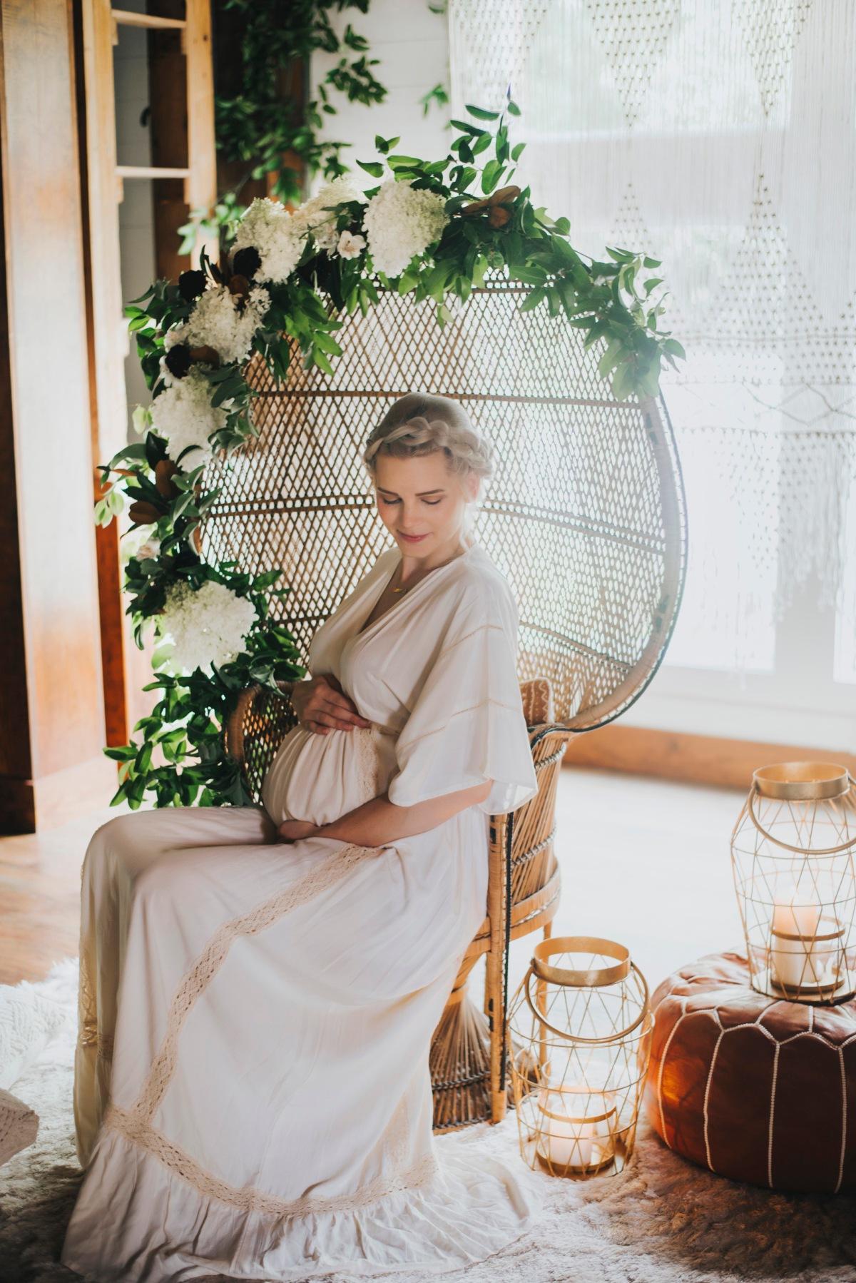 Botanical Maternity Shoot